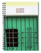 Wooden Door In Old San Juan, Puerto Rico Spiral Notebook