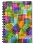 Befriended Squares And Bubbles Spiral Notebook