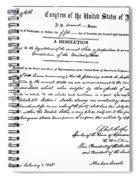 13th Amendment, 1865 Spiral Notebook