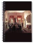 Jlm-1820-henry Sargent-the Dinner Party Henry Sargent Spiral Notebook
