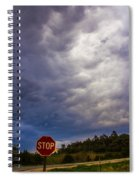 May Nebraska Storm Cells Spiral Notebook