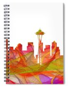 Seattle Washington Skyline Spiral Notebook