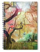 15 Abstract Japanese Maple Tree Spiral Notebook