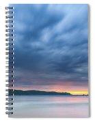 Cloudy Sunrise Seascape Spiral Notebook
