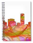 Denver Colorado Skyline Spiral Notebook