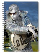 Silver Elvis Spiral Notebook