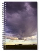 Afternoon Nebraska Thunderstorm Spiral Notebook