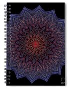 Kaleidoscope Image Created From Light Trails Spiral Notebook
