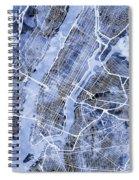 New York City Street Map Spiral Notebook
