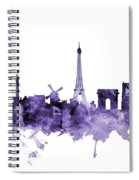 Paris France Skyline Spiral Notebook