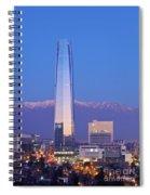 Santiago De Chile Spiral Notebook