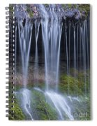 Water Flowing Over Rocks Spiral Notebook