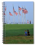 17 Flags 7 People 1 Tree Trunk Spiral Notebook