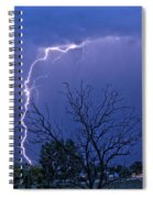 17 Street To Hygiene Lightning Strike. Spiral Notebook