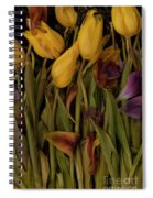Tulips Wilting Spiral Notebook