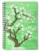 White Tree In Blossom, Painting Spiral Notebook