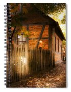 1700s House Old Salem Spiral Notebook