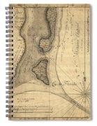 1765 Florida Coast Map Spiral Notebook