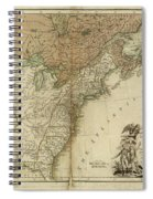 1783 United States Of America Map Spiral Notebook