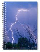 17th Street Lightning Strike Fine Art Photo Spiral Notebook