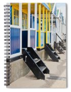 Beach Huts Spiral Notebook