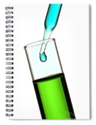Test Tube In Science Research Lab Spiral Notebook