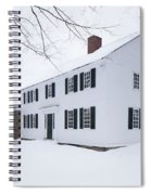1800 White Colonial Home Spiral Notebook