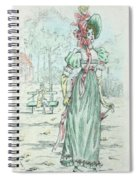 1801 Paris France Fashion Drawing Spiral Notebook