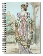 1803 Paris France Fashion Drawing Spiral Notebook