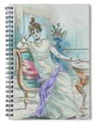 1804 Paris France Fashion Drawing Spiral Notebook