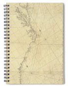 1807 North America Coastline Map Spiral Notebook