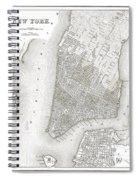 1839 New York City Map Spiral Notebook