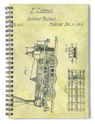 1845 Locomotive Patent Spiral Notebook