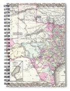 1855 Texas Map Spiral Notebook