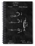 1867 Fishing Lure Patent Spiral Notebook