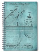 1868 Fishing Tackle Patent Blue Spiral Notebook