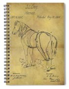 1868 Horse Harness Patent Spiral Notebook