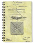 1869 Fishing Net Patent Spiral Notebook