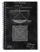 1869 Fishnet Patent Spiral Notebook