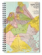 1869 King County Map Spiral Notebook