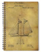 1869 Sailing Ship Patent Spiral Notebook