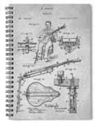 1873 Guitar Patent Blueprint Spiral Notebook