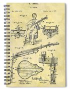 1873 Guitar Patent Spiral Notebook