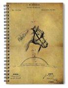 1874 Horse Blinder Patent Spiral Notebook