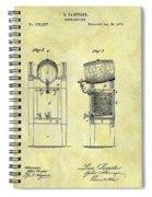1876 Beer Cooler Patent Spiral Notebook
