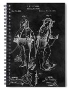 1876 Fireman Suit Patent Spiral Notebook