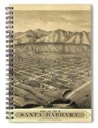1877 Santa Barbara California Map Spiral Notebook