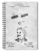 1879 Mustache Guard Patent Spiral Notebook