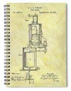 1881 Beer Cooler Patent Spiral Notebook