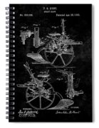 1882 Sulky Plow Patent Spiral Notebook